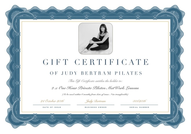 Judy Bertram Gift Certificate